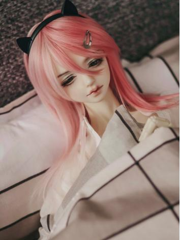 BJD Wig Boy/Girl Pink Hair[...