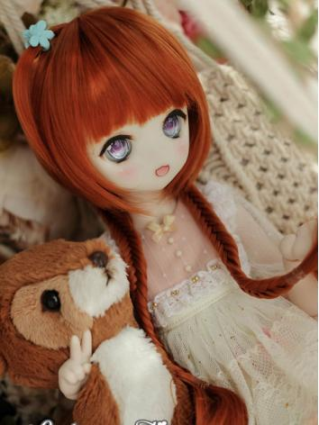 BJD Wig Girl Orange/Gold Lo...