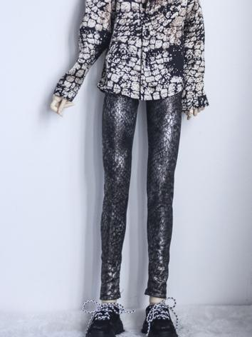 BJD Outfit 1/3 1/4 70cm Boy/Girl Leather Snakelike Black Trousers A298 for MSD/SD/70cm Size Ball-jointed Doll