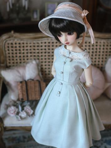 1/3 1/4 Clothes BJD Girl Blue Western Style Dress for SD/MSD Ball-jointed Doll