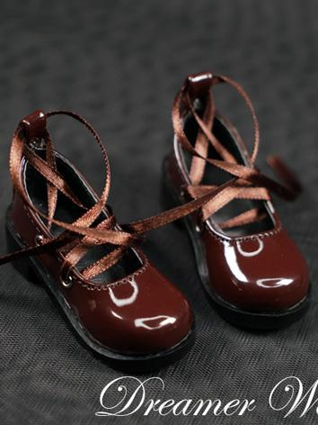 BJD Shoes Girl Brown Flat Boots Shoes for MSD/SD Ball-jointed Doll