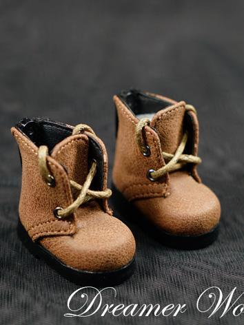 BJD Shoes Girl/Boy Brown/Yellow/Black/Grey Flat Boots Shoes for YOSD Ball-jointed Doll