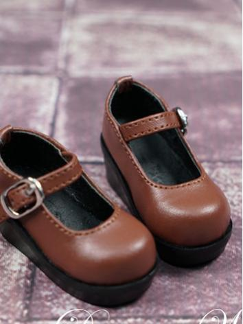 BJD Shoes Girl/Boy Brown/Wh...