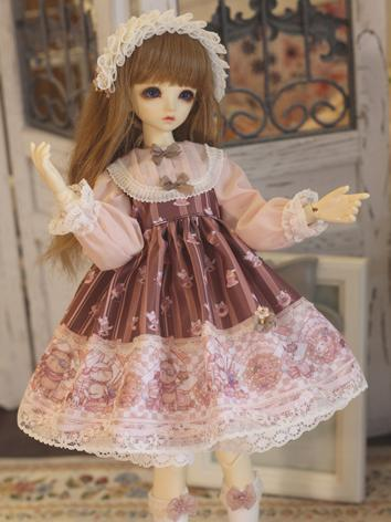 BJD Clothes Girl Western Dress Suit for MSD/MDD Ball-jointed Doll