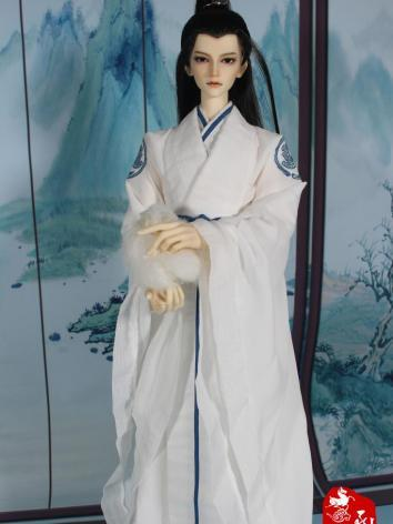 BJD Clothes Boy White Ancient Suit for 70cm size Ball-jointed Doll
