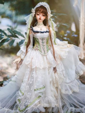 BJD 1/3 1/4 Clothes Girl Wh...
