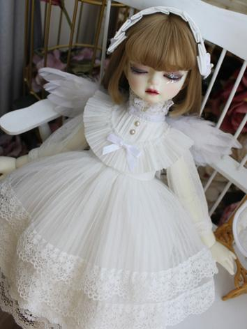 BJD Clothes Girl White West...