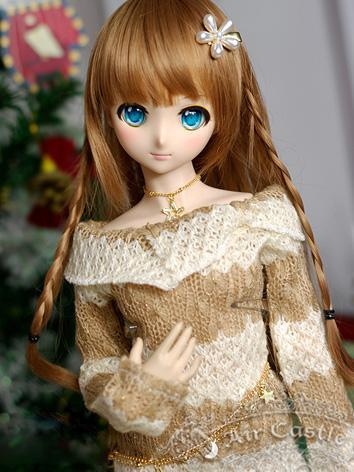 BJD Clothes MSD/MDD Girl Pink/Brown Sweater Dress Suit for Ball-jointed Doll