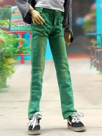 BJD Clothes Green Slim Trou...