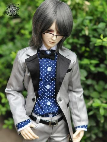 BJD Clothes Boy Silver Busi...