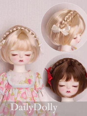 BJD Wig Girl Gold/Brown Sho...