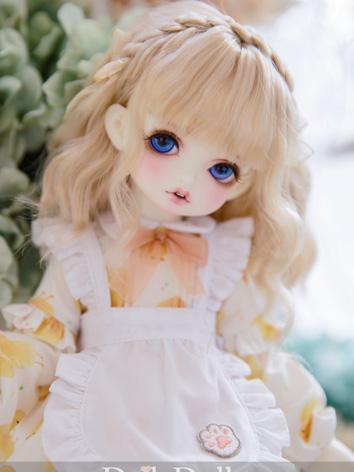 BJD Wig Girl Gold Long Curl...