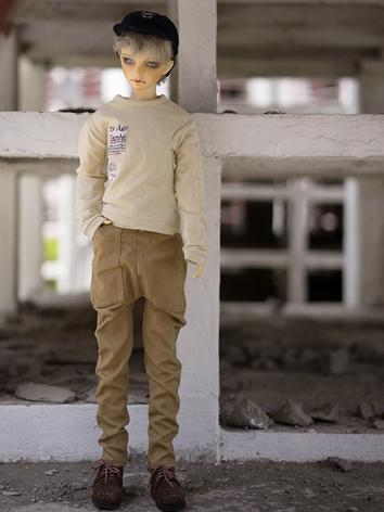 BJD Clothes Boy Beige Coat ...