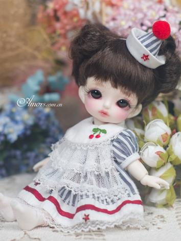 BJD Clothes 1/8 Girl White Dress for 1/8 Ball-jointed Doll