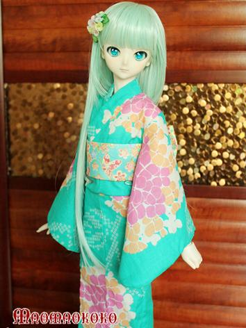 BJD Clothes Girl Green Prin...