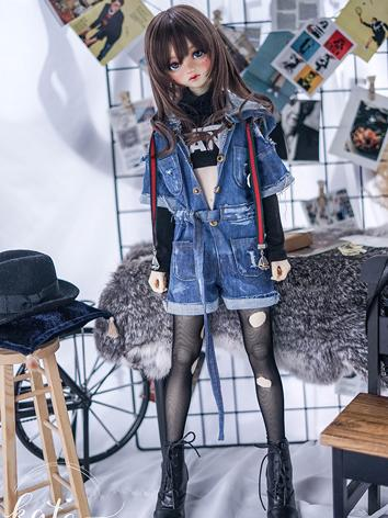 BJD Clothes Girl/Boy Jumpsuits and T-shirt for SD/MSD Ball-jointed Doll