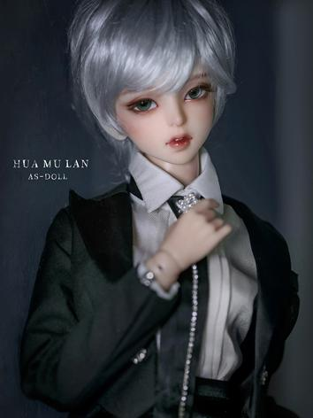 BJD Silver Gray Short Hair for SD Size Ball-jointed Doll