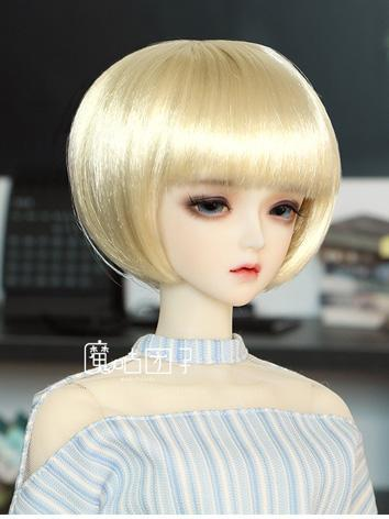 BJD Wig Girl Gold Short Hair for SD Size Ball-jointed Doll