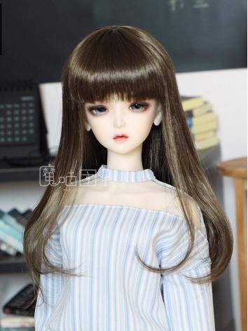 BJD Wig Girl Brown Long Hair for SD Size Ball-jointed Doll