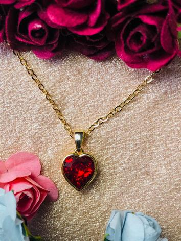 BJD Red Heart Necklace for ...