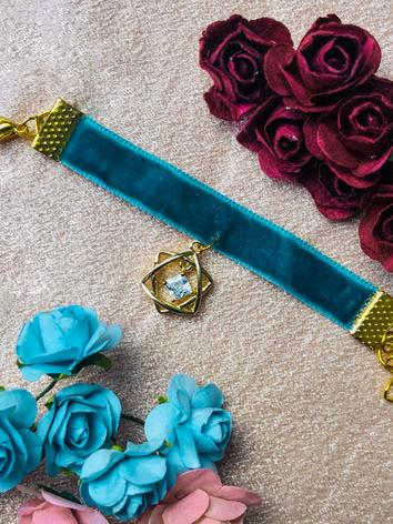 BJD Blue Choker Necklace fo...
