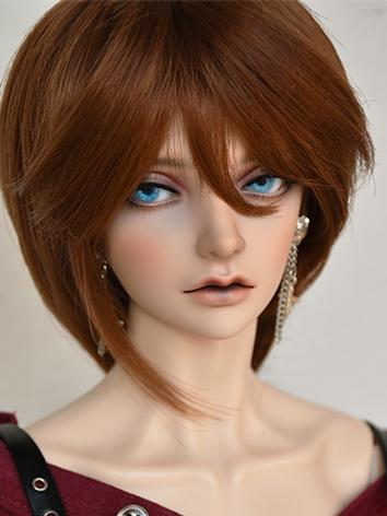 BJD Girl Wig Brown Short Straight Hair Wig for SD/MSD/YOSD Size Ball-jointed Doll
