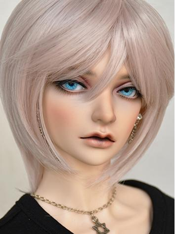 BJD Girl Wig Pink Short Straight Hair Wig for SD/MSD/YOSD Size Ball-jointed Doll