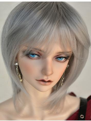 BJD Girl Wig Gray Short Straight Hair Wig for SD/MSD/YOSD Size Ball-jointed Doll