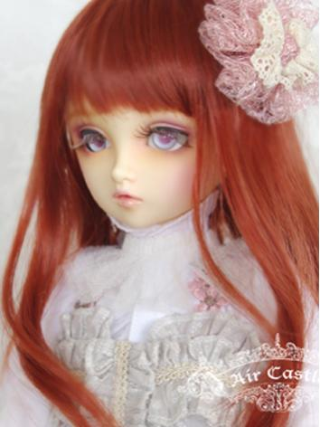 BJD Wig Girl Red&Brown Long...