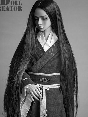 BJD Wig Boy Black/White Lon...