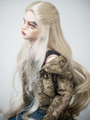 BJD Wig Boy/Girl Gold Long Curly Hair for MSD Size Ball-jointed Doll