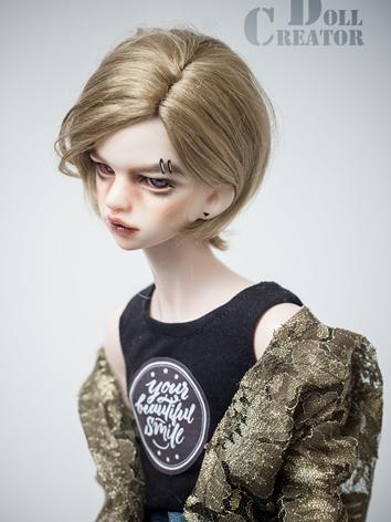 BJD Wig Boy/Girl Dark Chocolate Short Hair for MSD Size Ball-jointed Doll