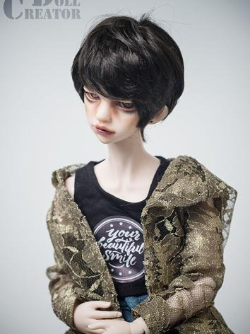 BJD Wig Boy/Girl Brown Short Hair for MSD Size Ball-jointed Doll
