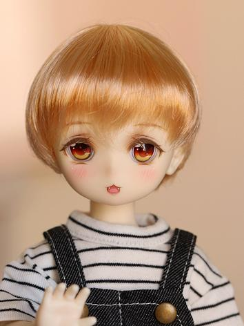 BJD Wig Girl Gold Short Hair for MSD Size Ball-jointed Doll