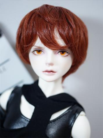 BJD Wig Boy Redish Brown Short Hair for SD/MSD/YOSD Size Ball-jointed Doll