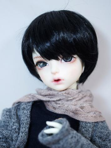 BJD Wig Boy Black Short Hair for YOSD Size Ball-jointed Doll