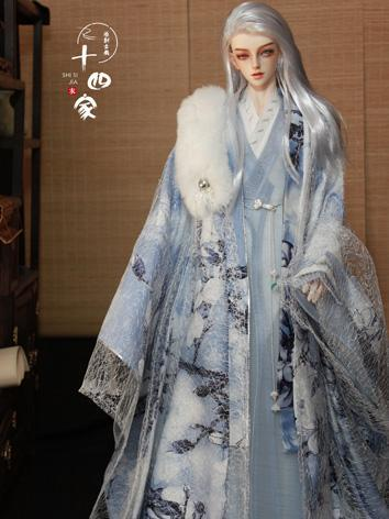 BJD Clothes Blue&White Anci...