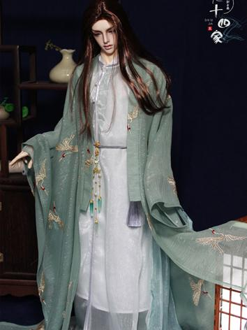 BJD Clothes Blue/Green Ancient Male Suit for SD/70CM Ball-jointed Doll