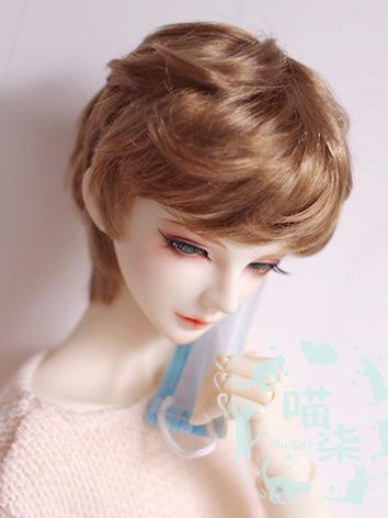 BJD Wig Boy Gold Wig Hair for SD/MSD/YOSD Size Ball-jointed Doll