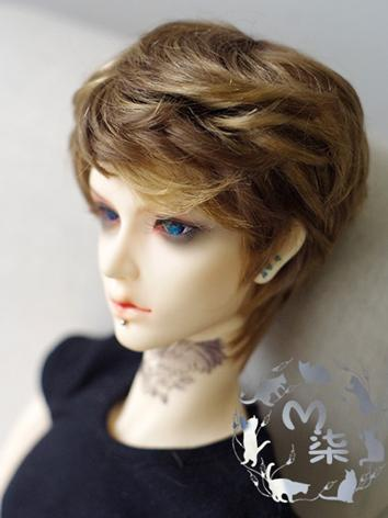 BJD Wig Boy Brown Wig Hair for MSD Size Ball-jointed Doll