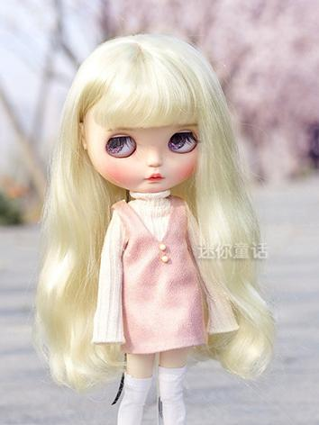 BJD Wig Girl Gold Long Hair 1/3 1/4 Wig for SD/MSD Size Ball-jointed Doll