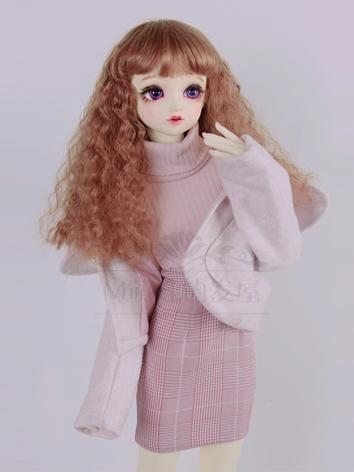 BJD Clothes Sweet Girl Sweater+Skirt+Coat Set for SD/DD Size Ball-jointed Doll