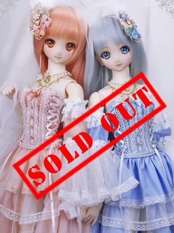 1/3 1/4 BJD Clothes Pink/Blue Sweet Dress Suit[Honey] for SD/MSD Ball-jointed Doll