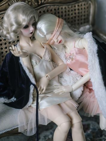 1/3 1/4 Clothes BJD Girl Beige/Pink Sexy Dress Set for SD/MSD Ball-jointed Doll