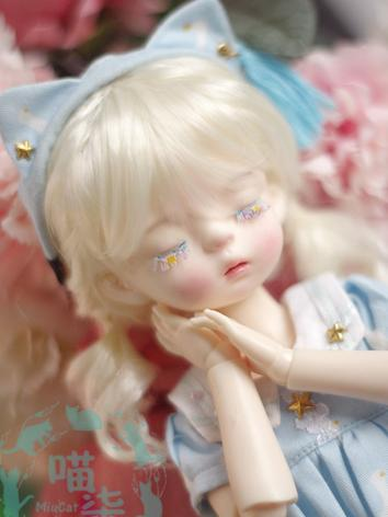 BJD Wig Girl Beige Wig Hair for 1/8 SD/MSD/YOSD Size Ball-jointed Doll