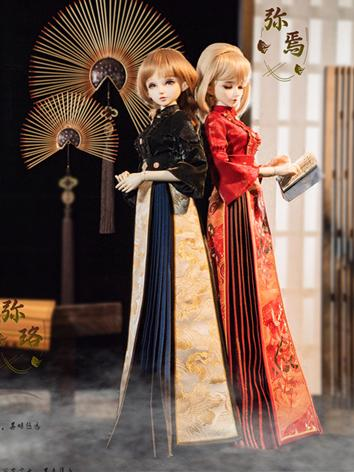 BJD Clothes Girl Red/Black Dress for MSD/SD/SD16 Ball-jointed Doll