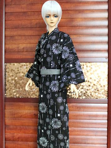 BJD Clothes Boy Black Yukat...
