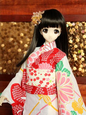 BJD Clothes Girl Red Printe...