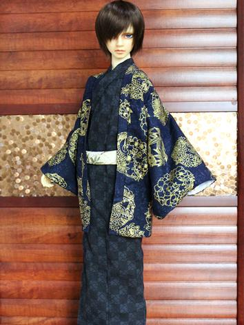 BJD Clothes Boy Blue Yukata...