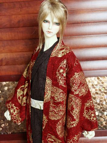 BJD Clothes Boy Red Yukata ...